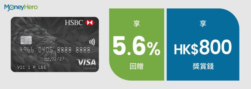 網購信用卡 滙豐Visa SIgnature信用卡