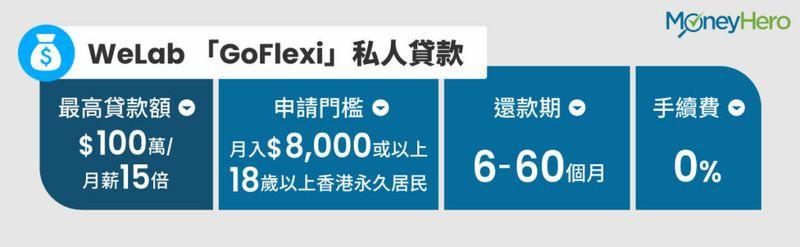 WeLab「GoFlexi」私人貸款